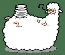 Creepy Funny Alpaca sticker #54726