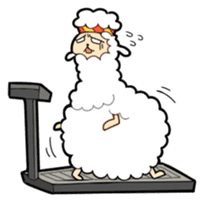 Creepy Funny Alpaca sticker #54727