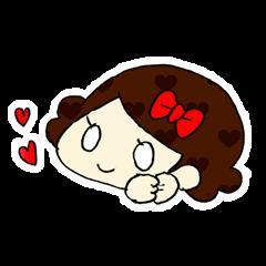 Ribbon-chan! Full stamp (sticker style)