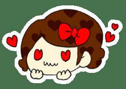 Ribbon-chan! Full stamp (sticker style) sticker #54896