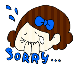 Ribbon-chan! Full stamp (sticker style) sticker #54899
