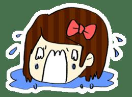 Ribbon-chan! Full stamp (sticker style) sticker #54901