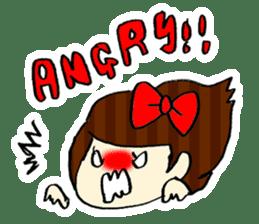 Ribbon-chan! Full stamp (sticker style) sticker #54904