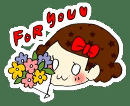 Ribbon-chan! Full stamp (sticker style) sticker #54927