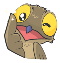 LOVELY POTOO sticker #56614