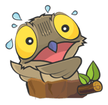 LOVELY POTOO sticker #56617