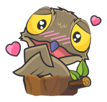 LOVELY POTOO sticker #56627