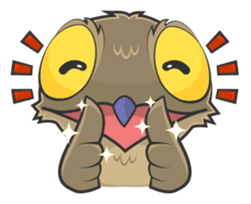 LOVELY POTOO sticker #56630