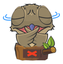 LOVELY POTOO sticker #56632