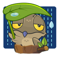 LOVELY POTOO sticker #56634