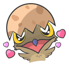 LOVELY POTOO sticker #56636