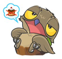 LOVELY POTOO sticker #56643