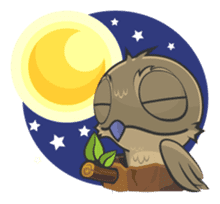 LOVELY POTOO sticker #56644
