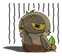 LOVELY POTOO sticker #56649