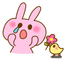 "Pleasant friends with ""Pyokotan"" sticker #57010"