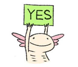 """We are Axolotl """"Upa-san"""" sticker #57219"""