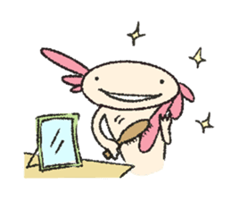 """We are Axolotl """"Upa-san"""" sticker #57224"""