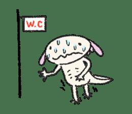 """We are Axolotl """"Upa-san"""" sticker #57229"""