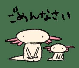 """We are Axolotl """"Upa-san"""" sticker #57236"""