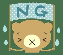 Bear in Trouble sticker #57667