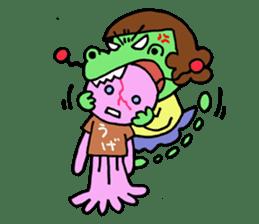 Dinosaur girl Gauko sticker #58580