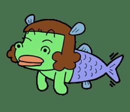 Dinosaur girl Gauko sticker #58588