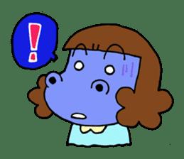 Dinosaur girl Gauko sticker #58590