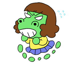 Dinosaur girl Gauko sticker #58596