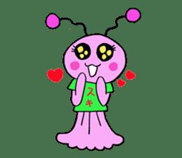 Dinosaur girl Gauko sticker #58598