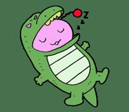 Dinosaur girl Gauko sticker #58599