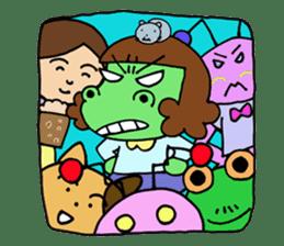 Dinosaur girl Gauko sticker #58600