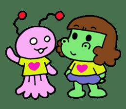 Dinosaur girl Gauko sticker #58606