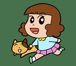 Dinosaur girl Gauko sticker #58612