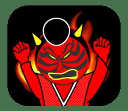 """Kabuki Sticker  """"Shibaraku!"""" sticker #58978"""