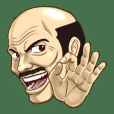 Exciting! Mr. bald head sticker #59415