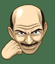 Exciting! Mr. bald head sticker #59417