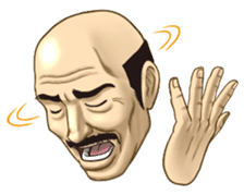 Exciting! Mr. bald head sticker #59426