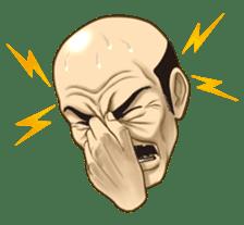 Exciting! Mr. bald head sticker #59432
