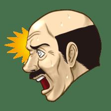 Exciting! Mr. bald head sticker #59438