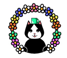 Paradise of three cats sticker #60655
