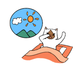 Paradise of three cats sticker #60664