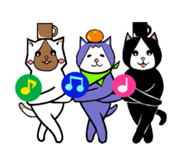 Paradise of three cats sticker #60683