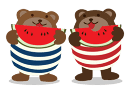 The small bear brothers sticker #60971