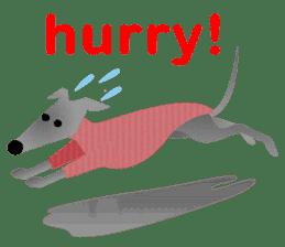 ITAGREMY: Fun Life of Italian Greyhound! sticker #61782