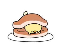 a chick stamp sticker #62556