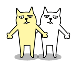 TOFU -White Cat- sticker #64261