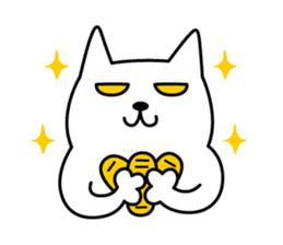 TOFU -White Cat- sticker #64269