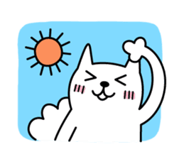 TOFU -White Cat- sticker #64278