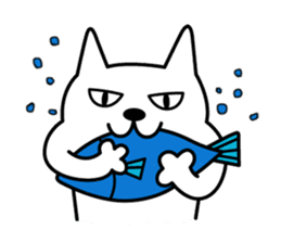 TOFU -White Cat- sticker #64279