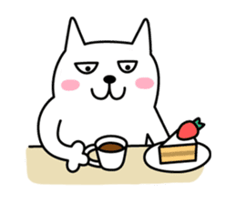 TOFU -White Cat- sticker #64282